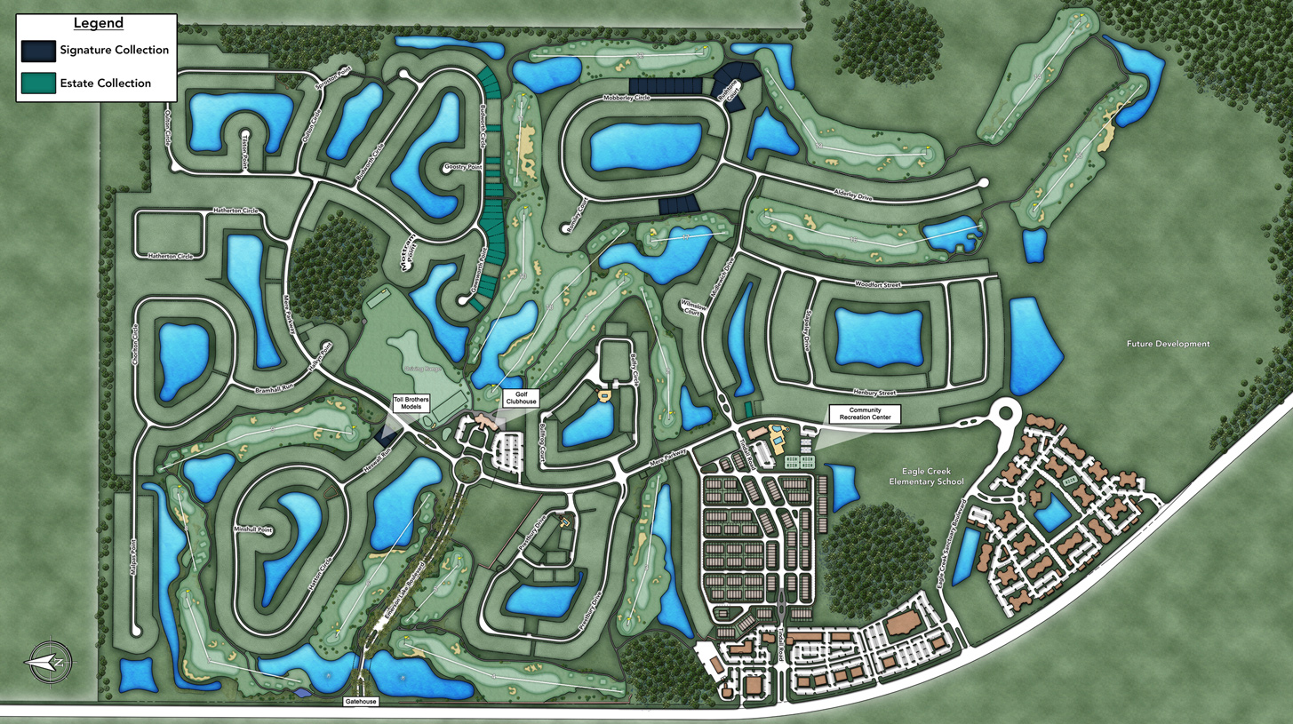 Toll Brothers at Eagle Creek Overall Site Plan