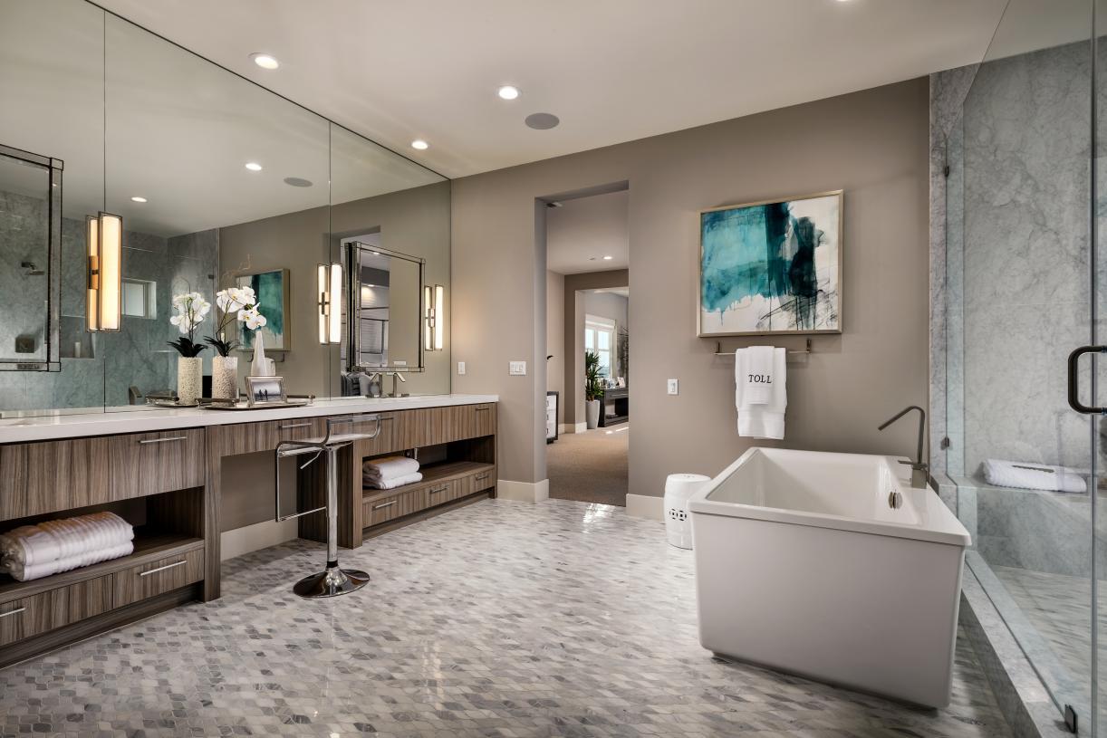 Lavish primary bathrooms