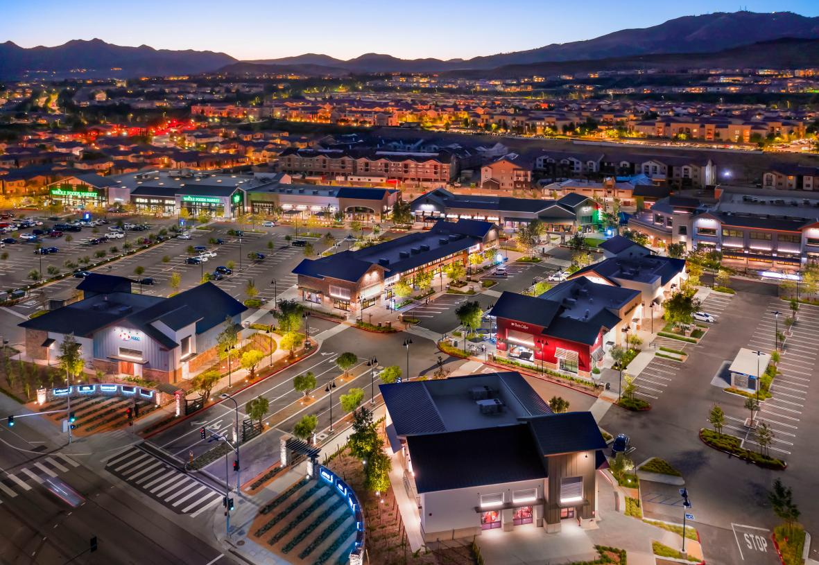 The new Porter Ranch Shopping Center nearby