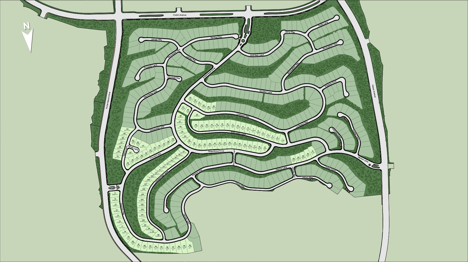 Westcliffe at Porter Ranch - Summit Collection Site Plan