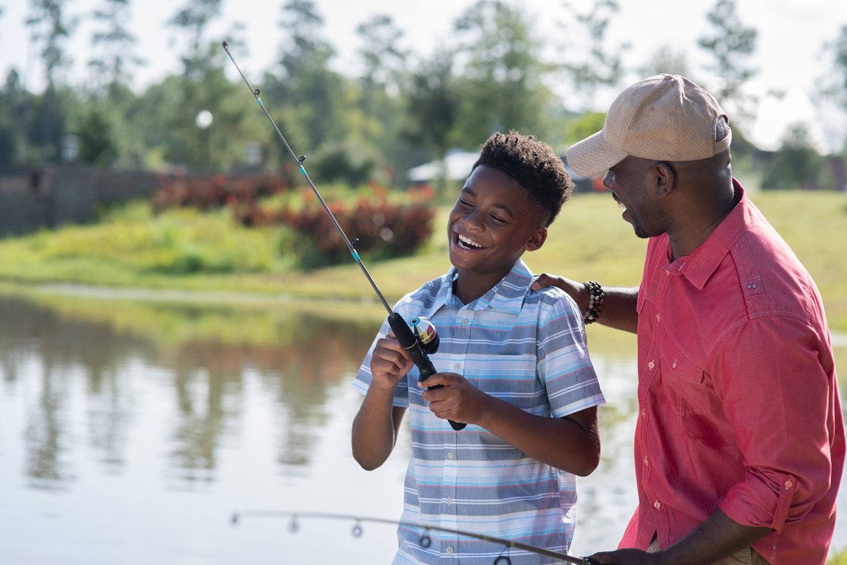 Three catch-and-release lakes allow for the perfect outdoor fun