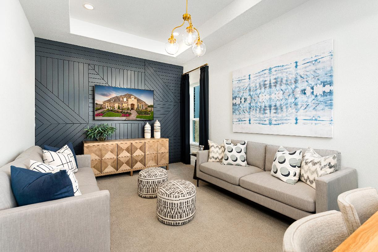 Spacious first floor flex room provides versatile living and entertaining options