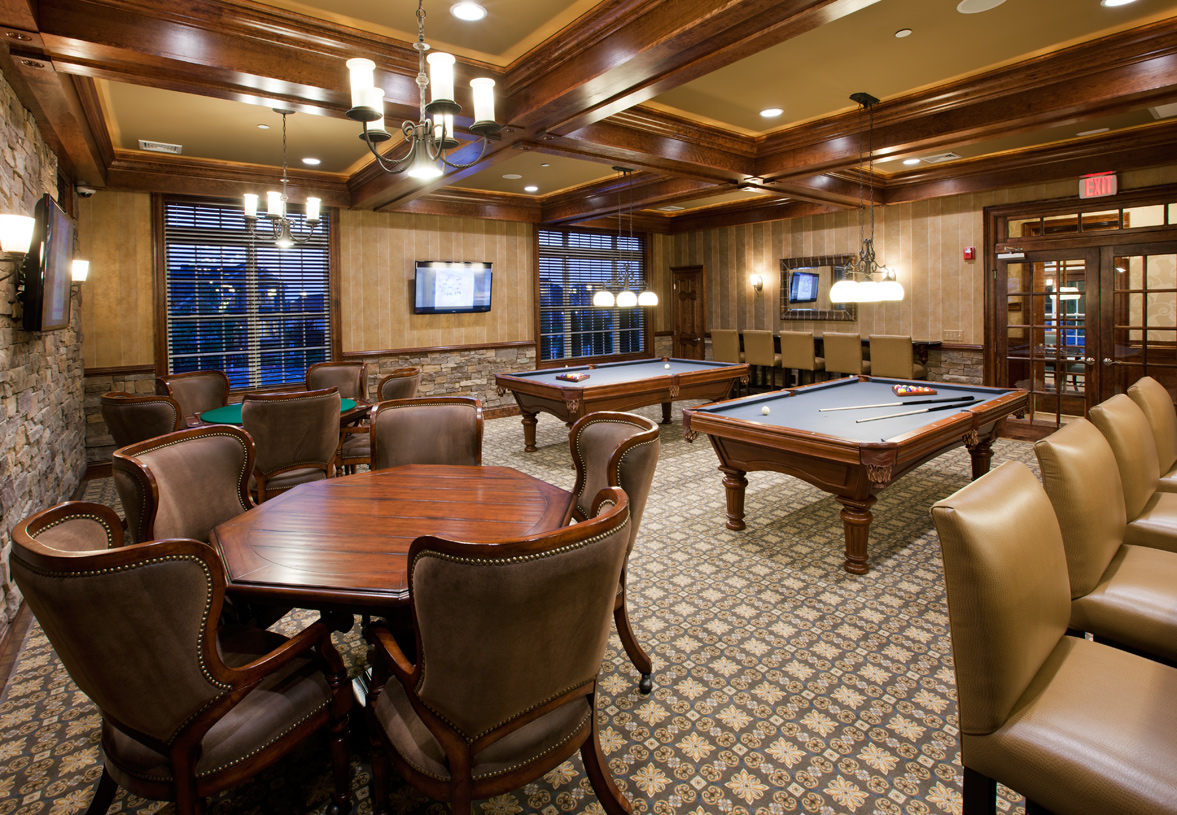 Clubhouse billiards and card room