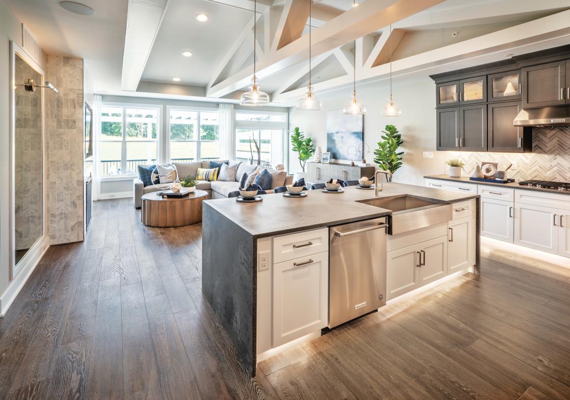 Open-concept floor plans, great for entertaining