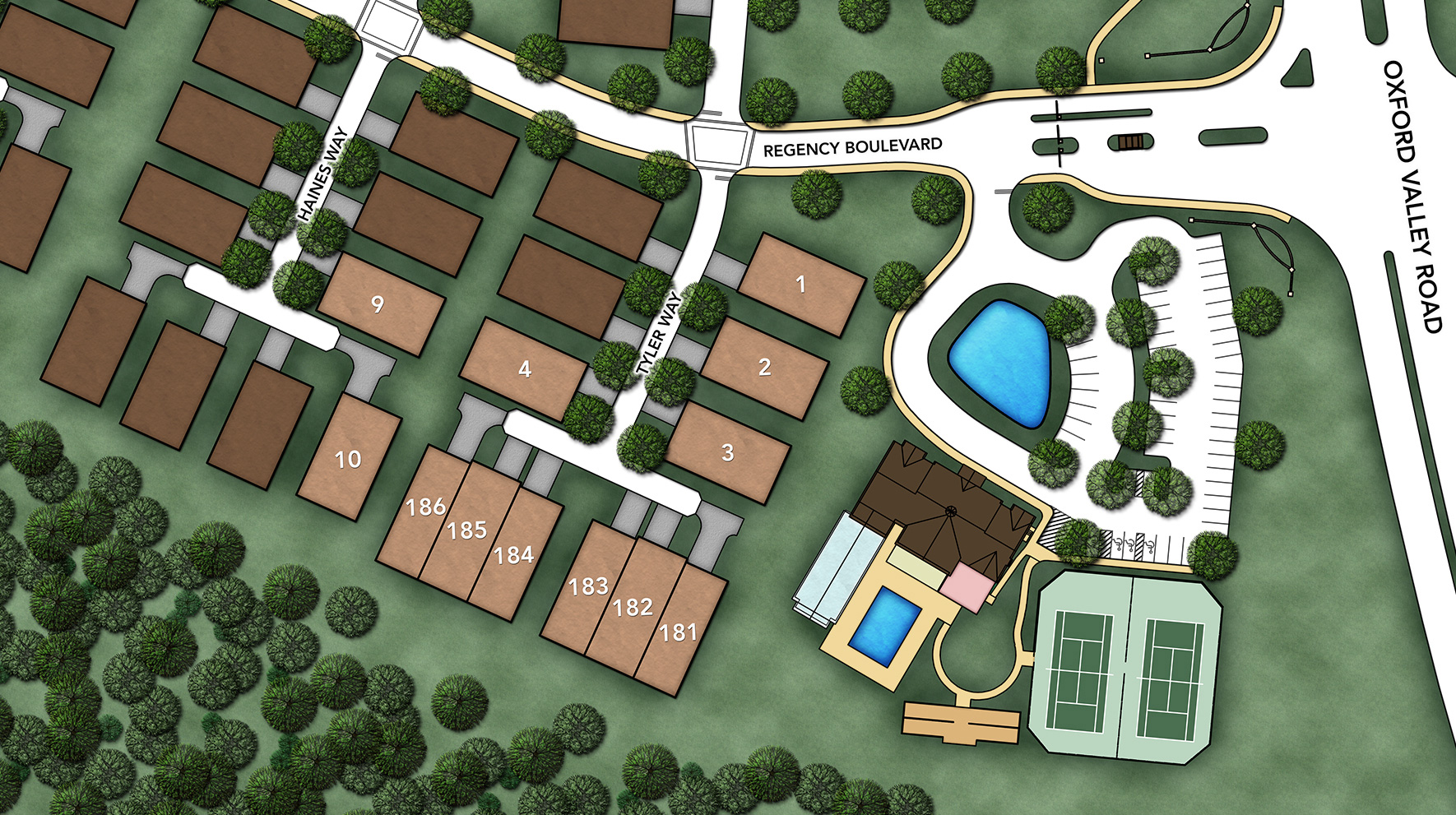 Regency at Yardley - The Carriage Collection Site Plan II