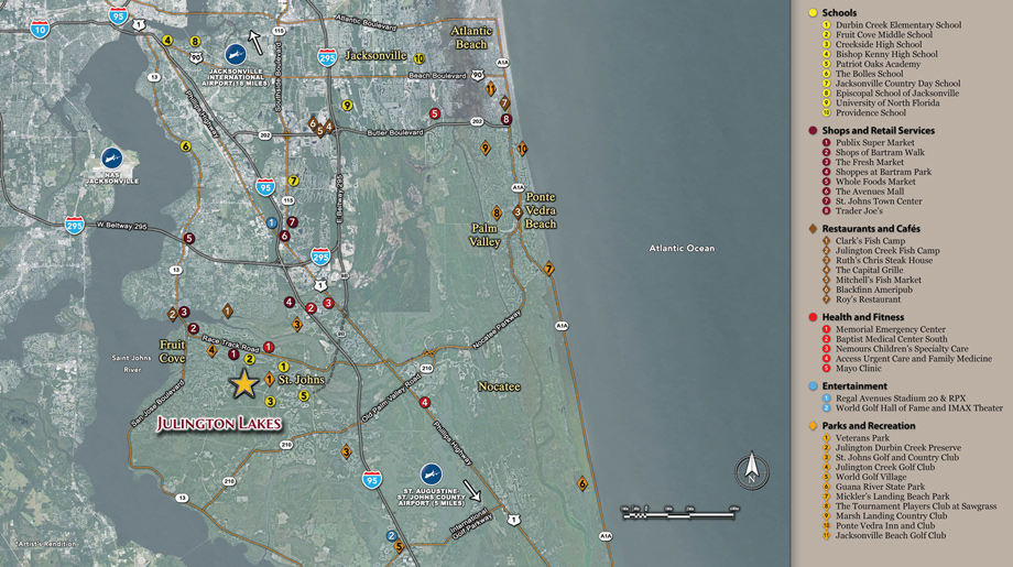 St Johns Florida Map.St Johns Fl New Homes For Sale Julington Lakes Heritage Collection