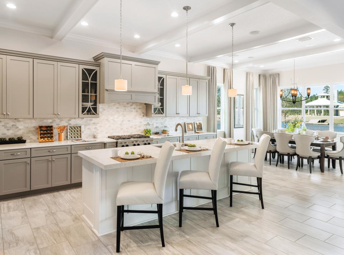 Gourmet Kitchens with oversized islands perfect for entertaining