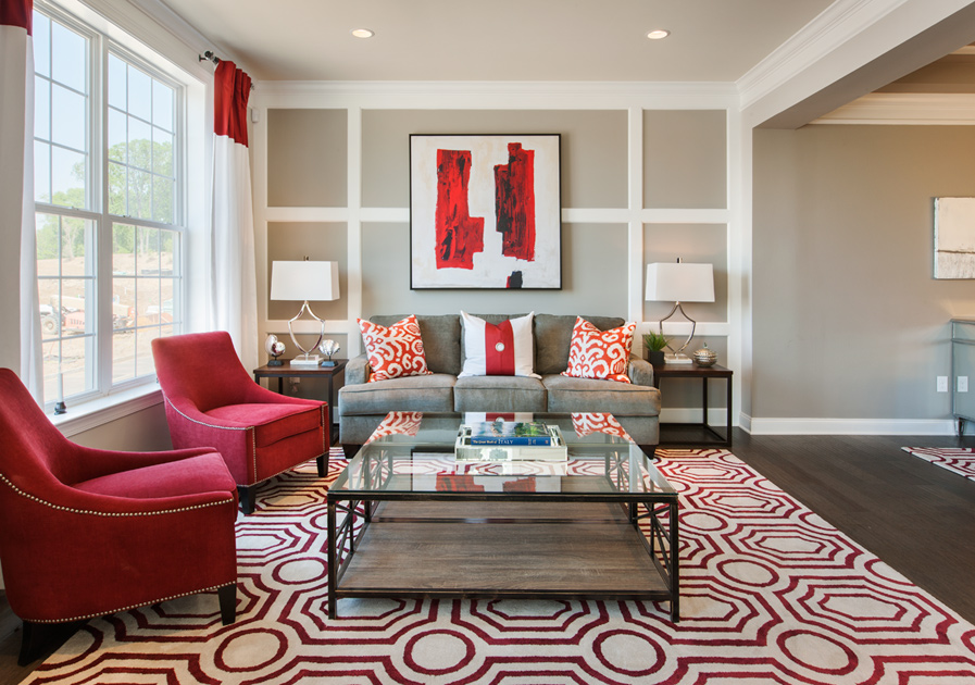 picture of living room new luxury homes for in chantilly va avonlea reserve 12765