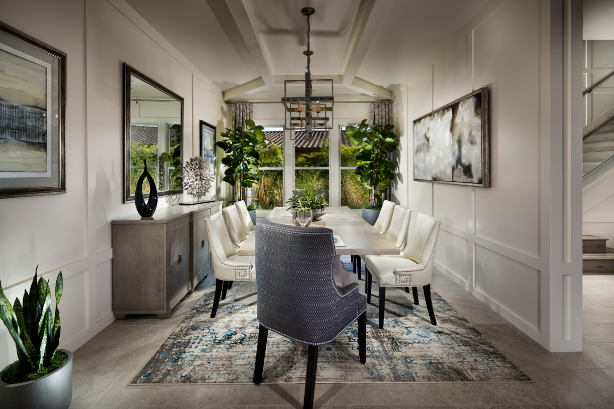 Spacious dining rooms