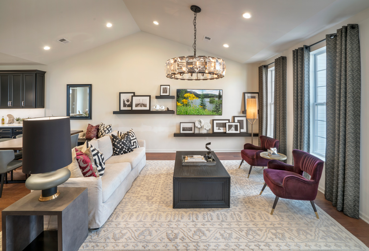 Natural light shines through the Stonewyck great room