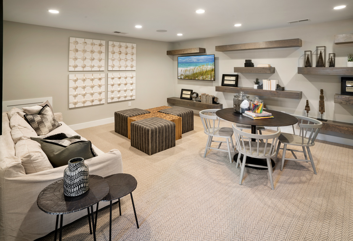 The Coverdale loft is a bonus flex space for a home office or living area