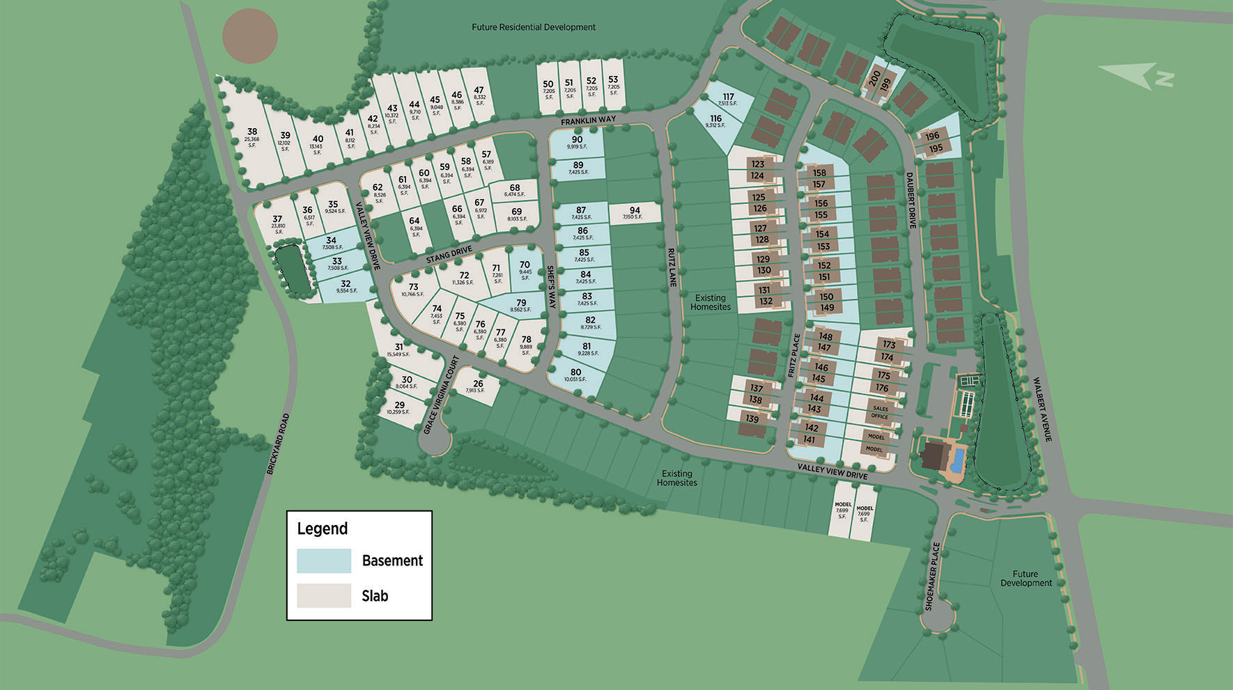 Regency at South Whitehall - Carriages Collection Site Plan