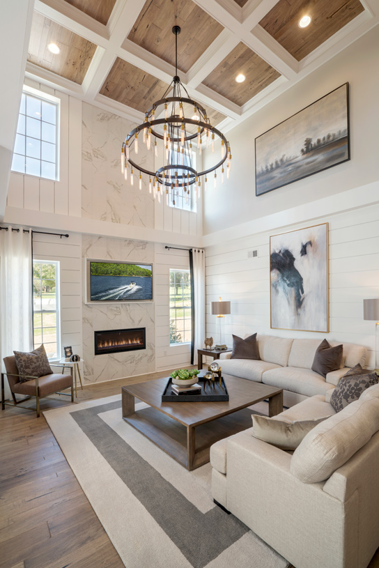 Dramatic two-story great room in the Berwick