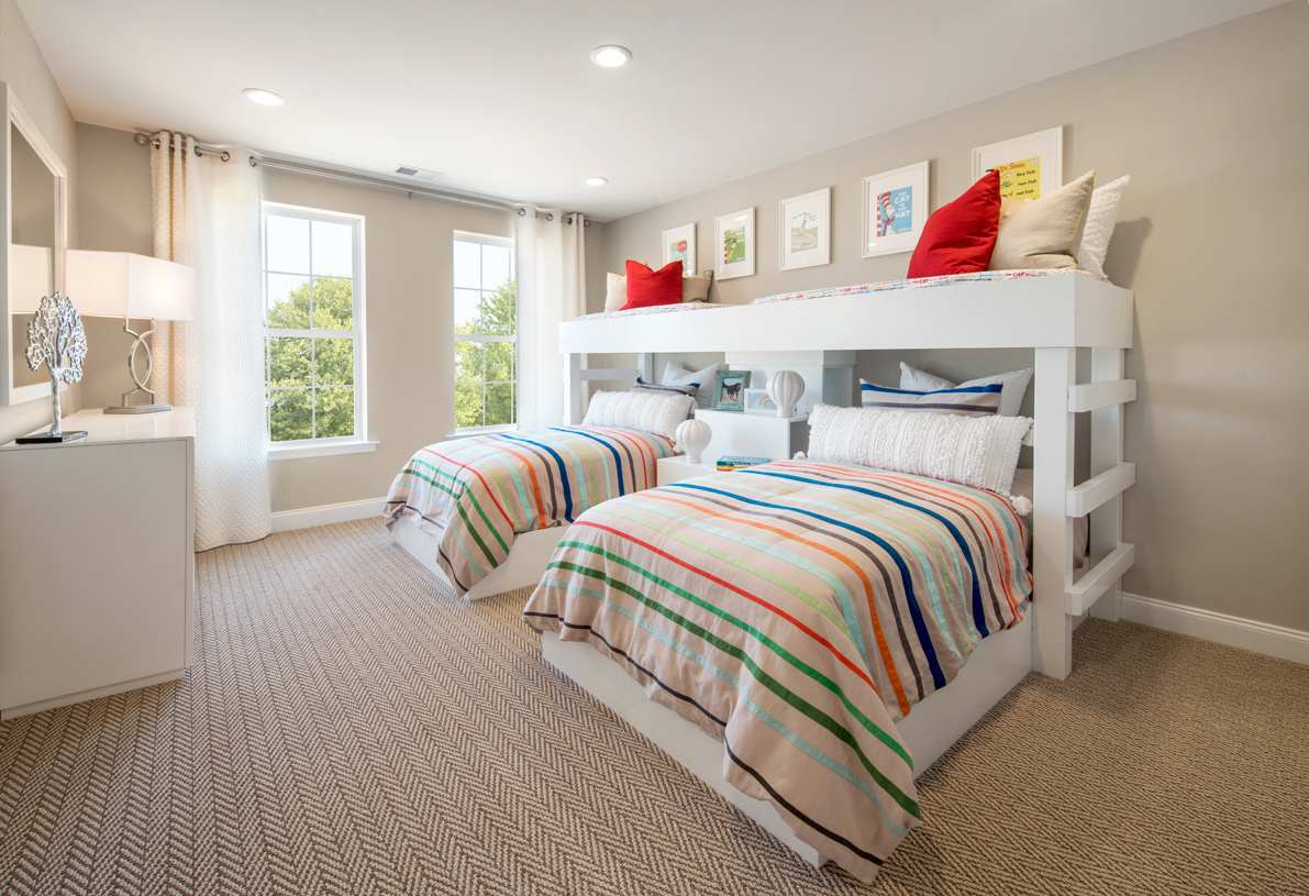 Guest bedroom located on the second floor in the Berwick