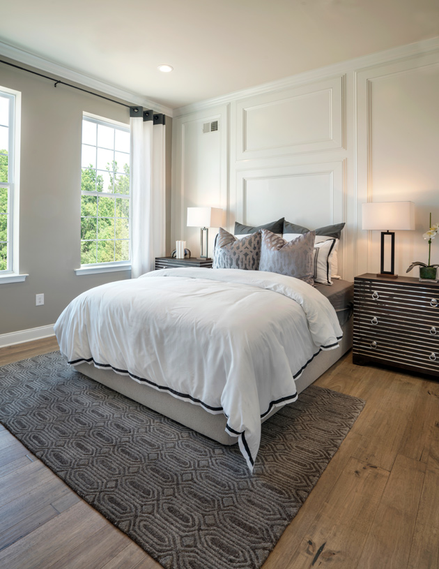 Secluded guest bedroom on the first floor
