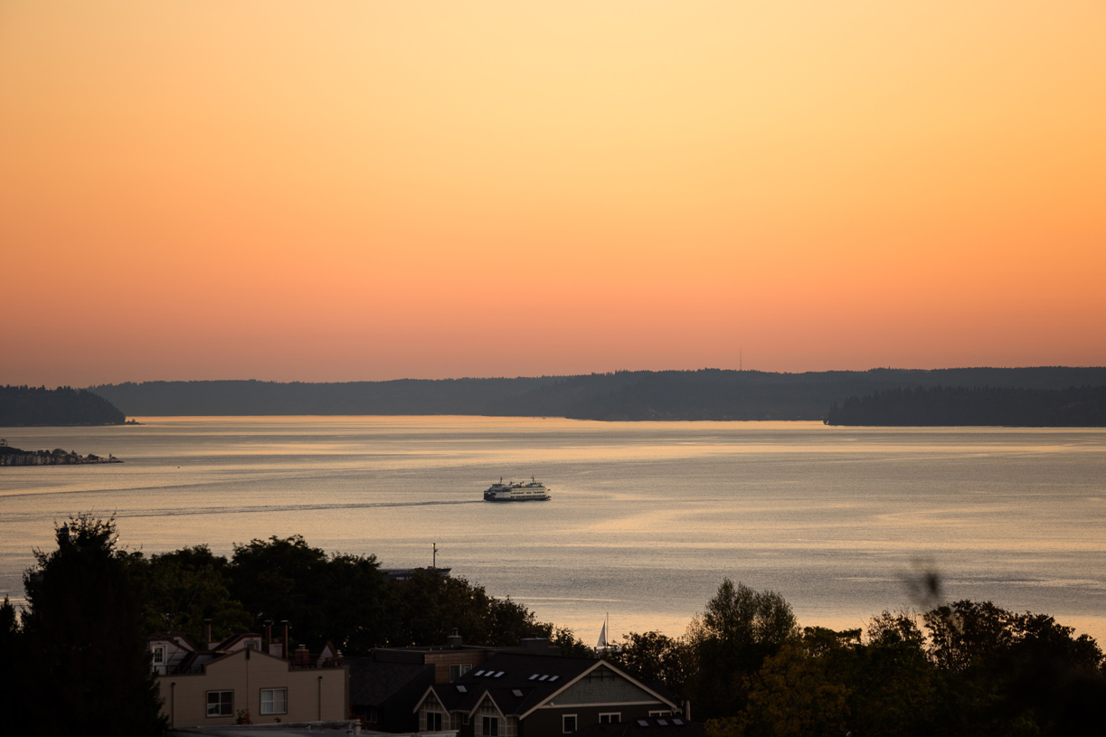 Take in the beautiful sunsets with outlooks to Puget Sound