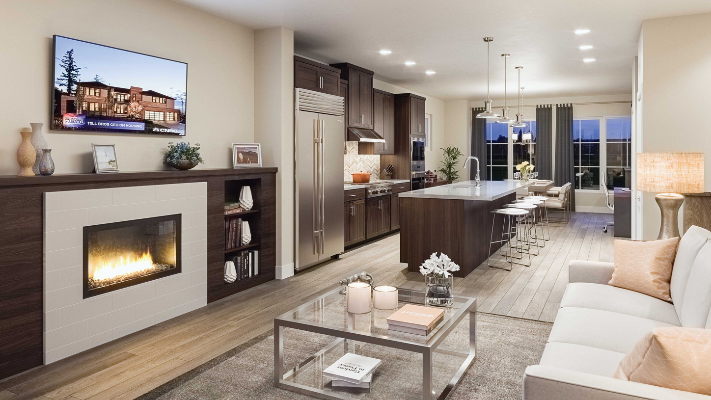 Open floor plans are ideal for entertaining friends and family