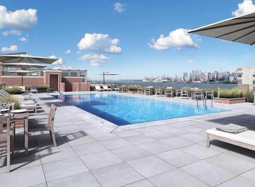 luxury apartment buildings hoboken nj. rooftop pool luxury apartment buildings hoboken nj