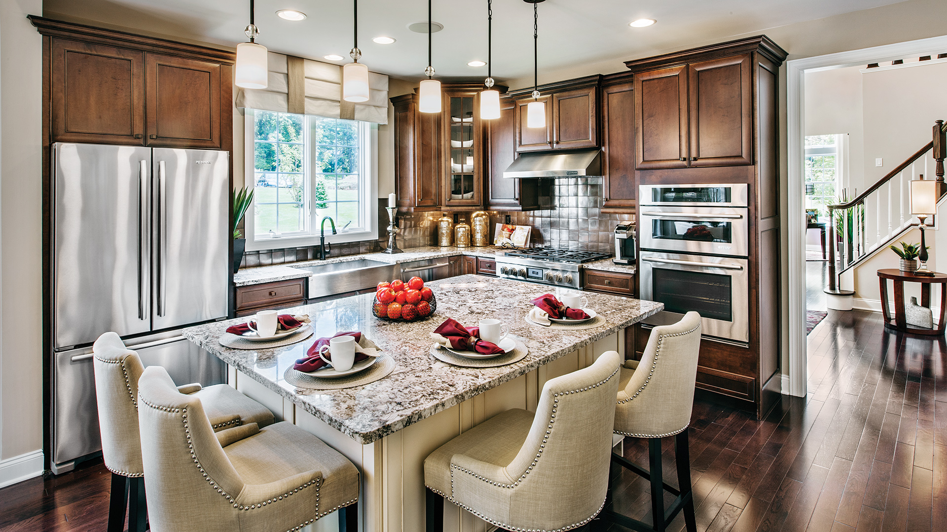 The Bucknell kitchen with stainless-steel appliances