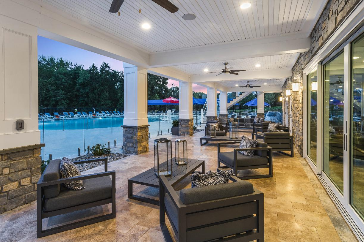 Relax poolside at your new clubhouse
