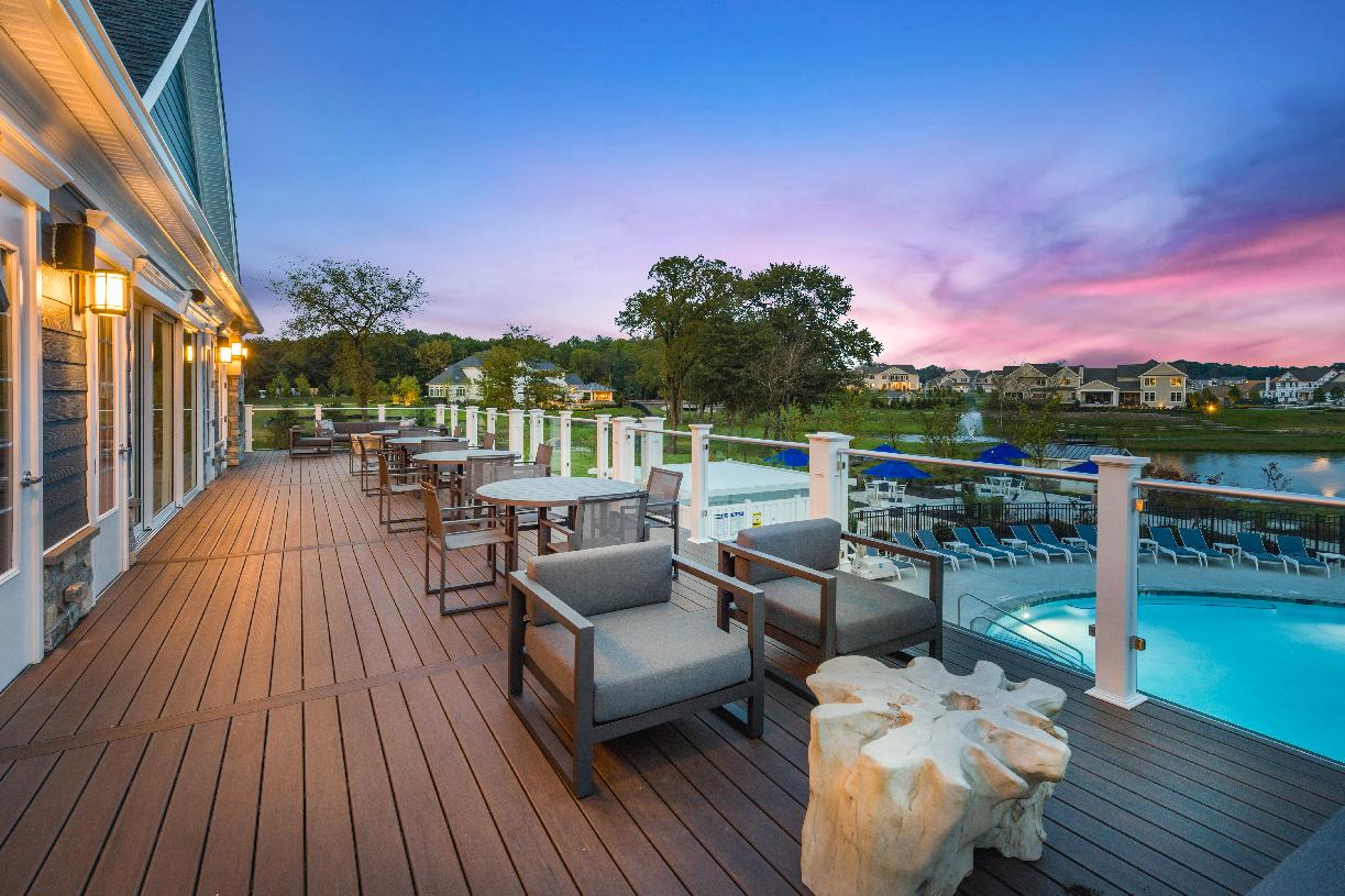 Take in the stunning views from your clubhouse deck
