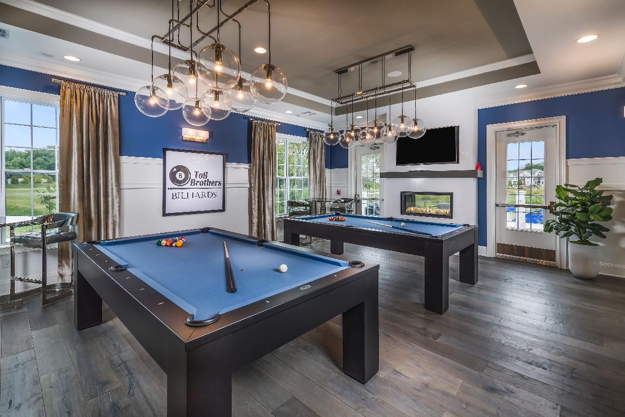 Shoot a game of pool in the clubhouse