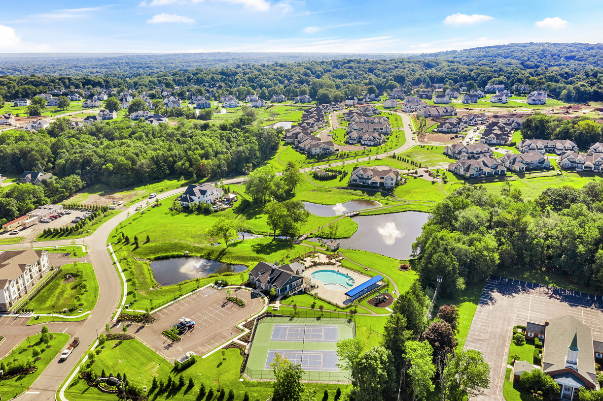 Aerial view of Reserve at Franklin Lakes community