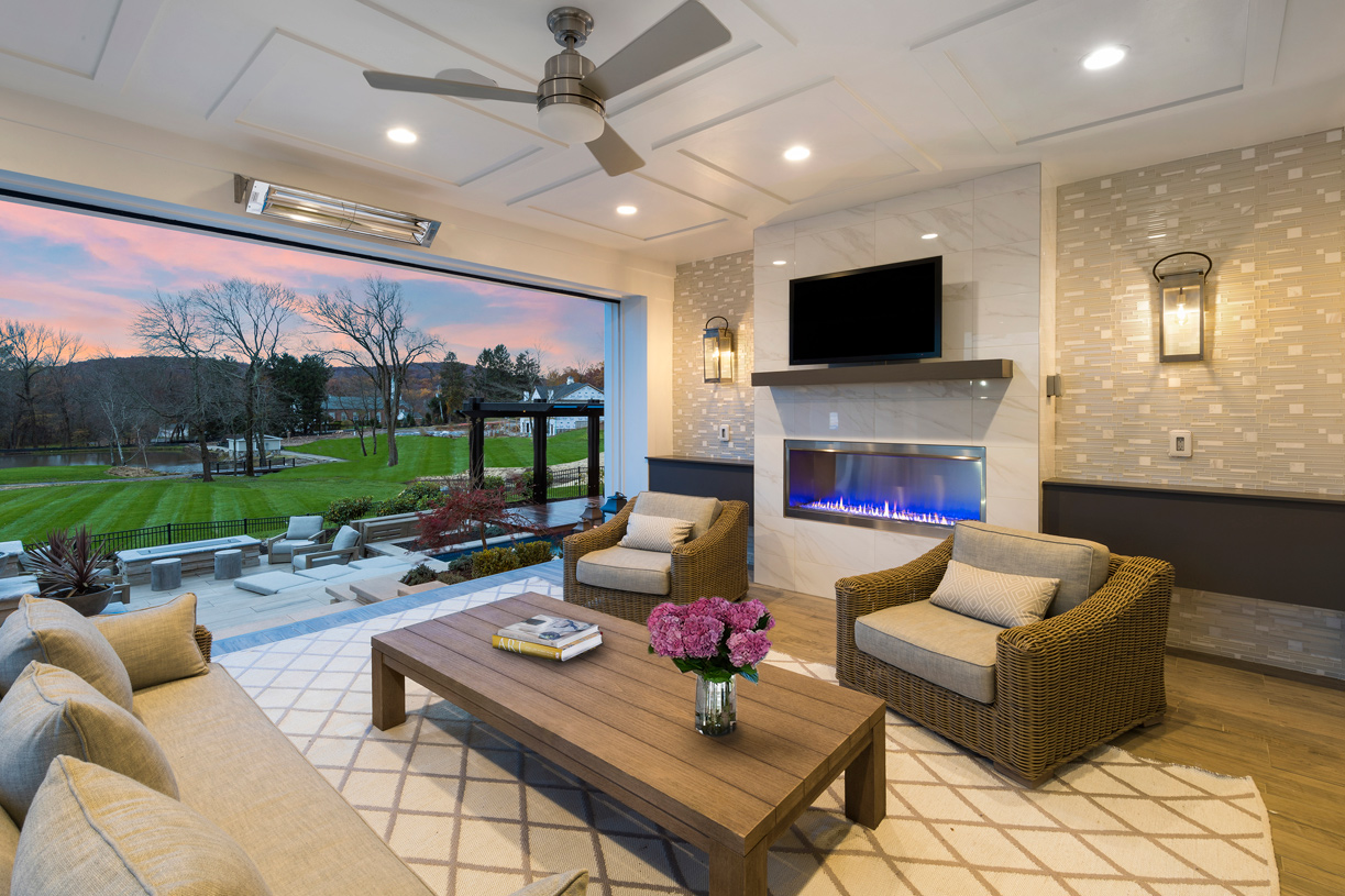 Luxurious outdoor living space