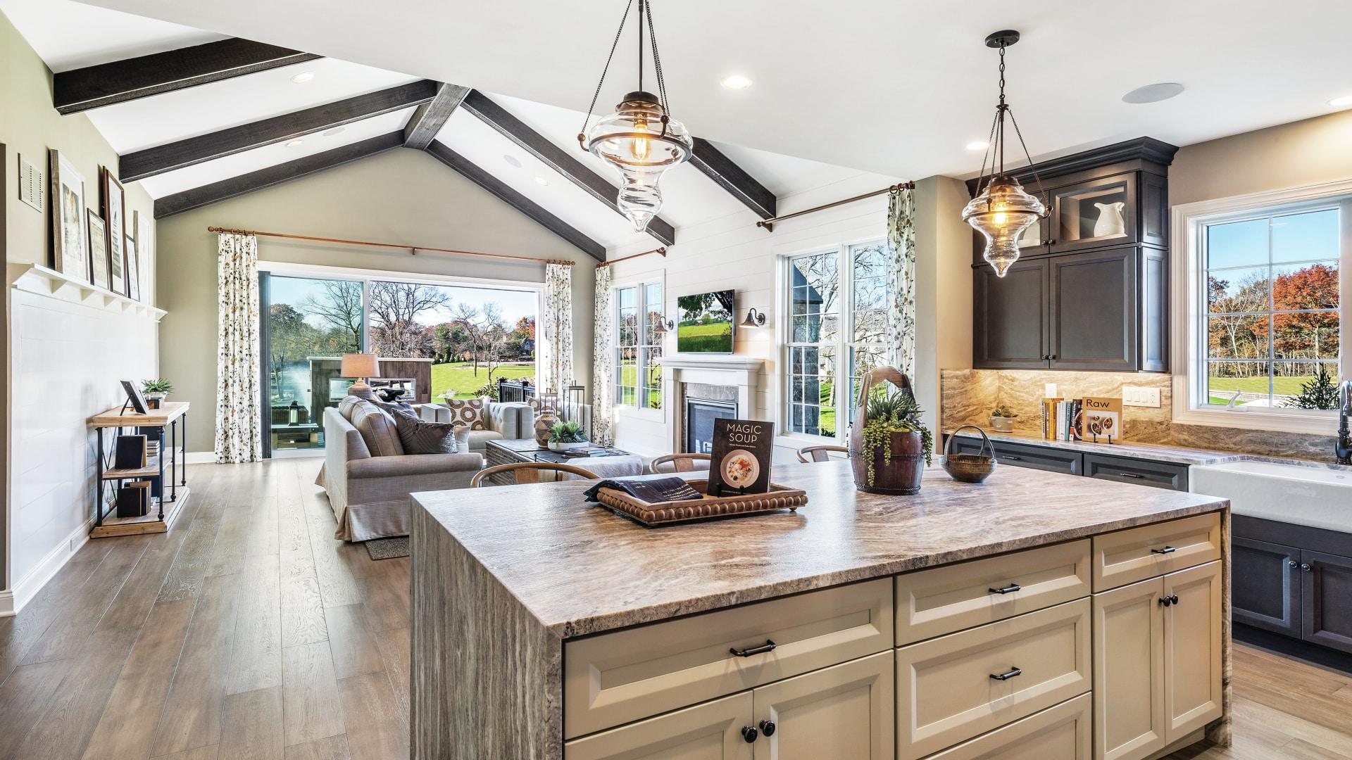 Flowing floor plans for indoor/outdoor living