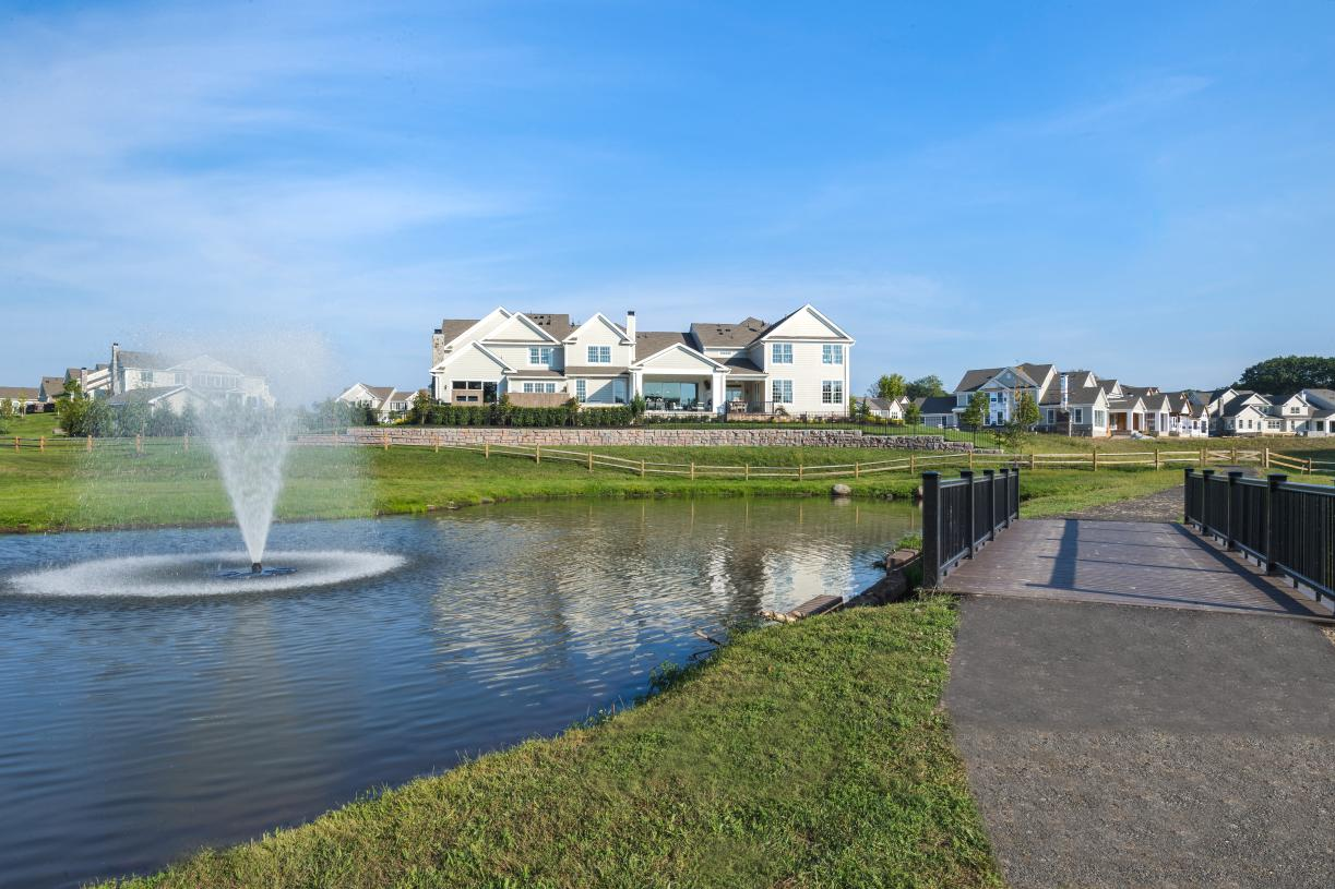 Walking trails meander by the clubhouse and through the community