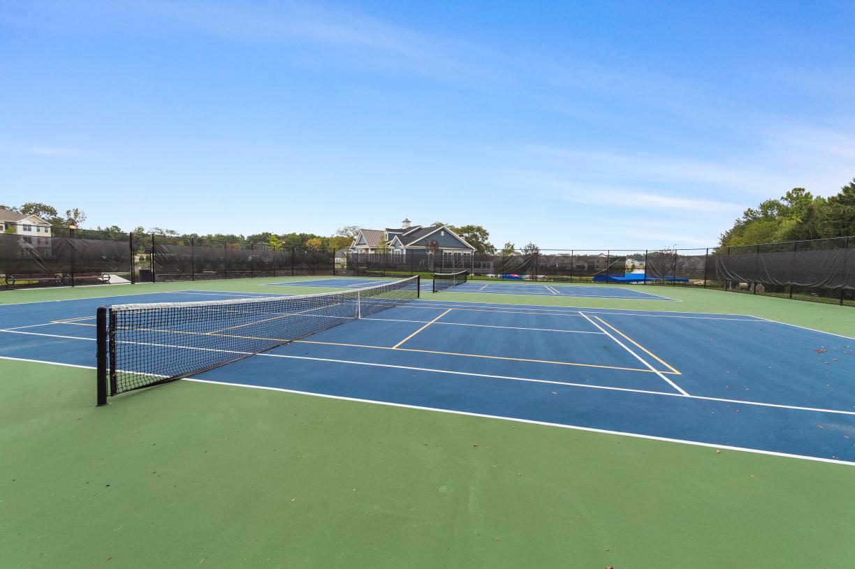 Challenge friends and neighbors to a tennis match