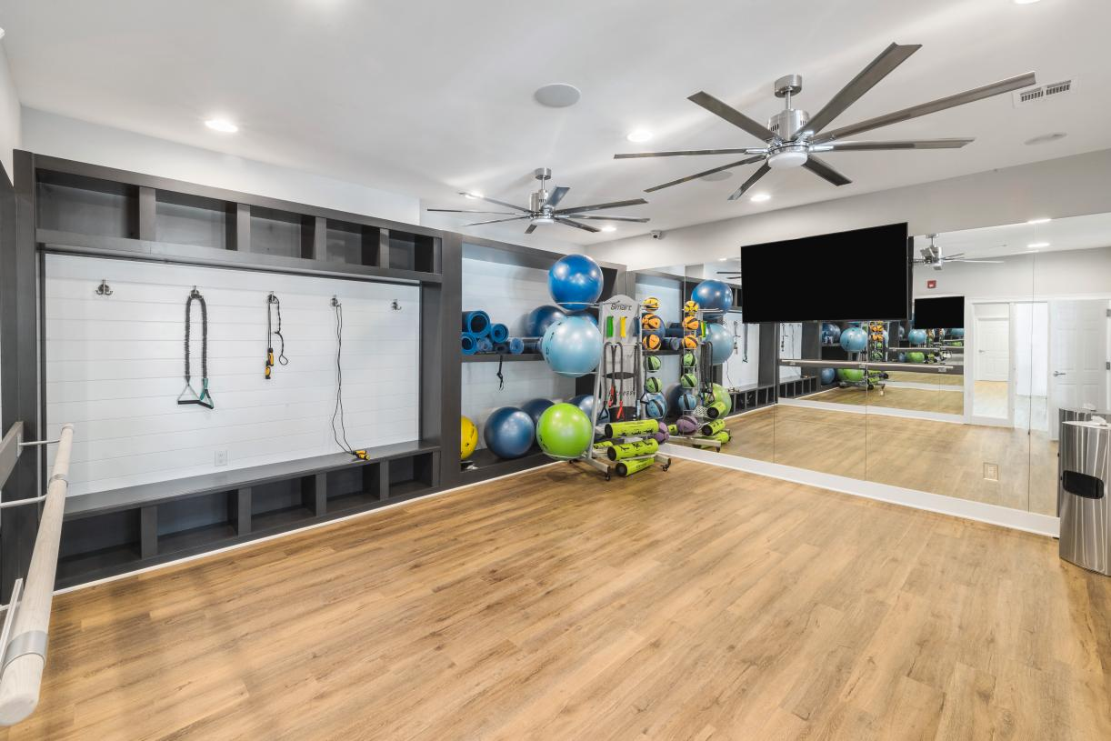A private space for barre, pilates, or yoga