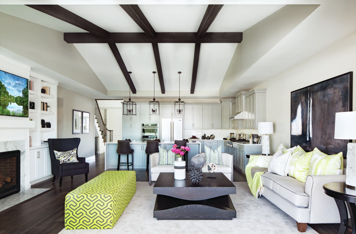Volume ceilings and charming design details