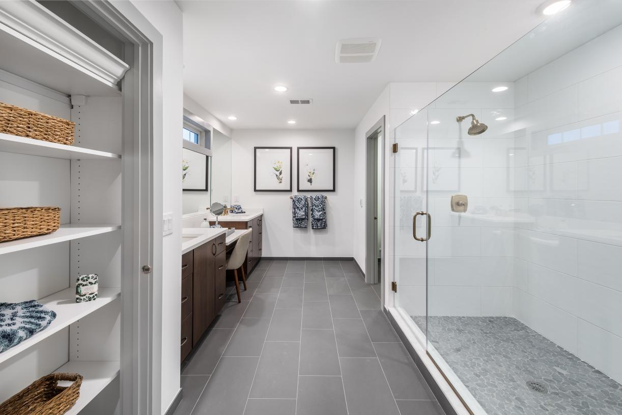 Spacious primary baths with spa-like shower