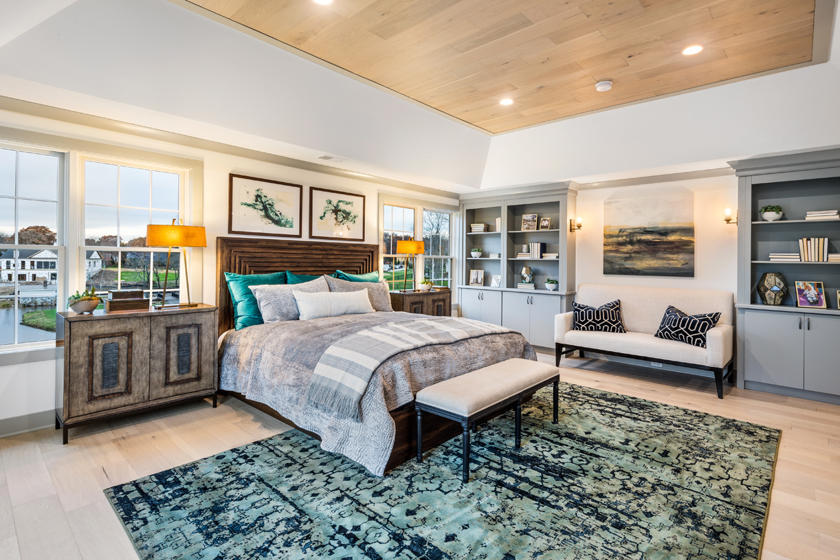 Bedroom retreat with separate sitting area