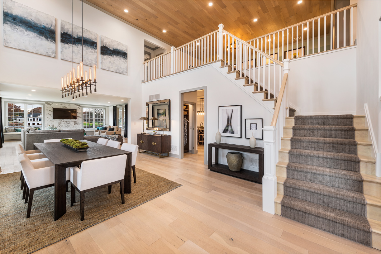 Grand entrance foyer with open floor plan