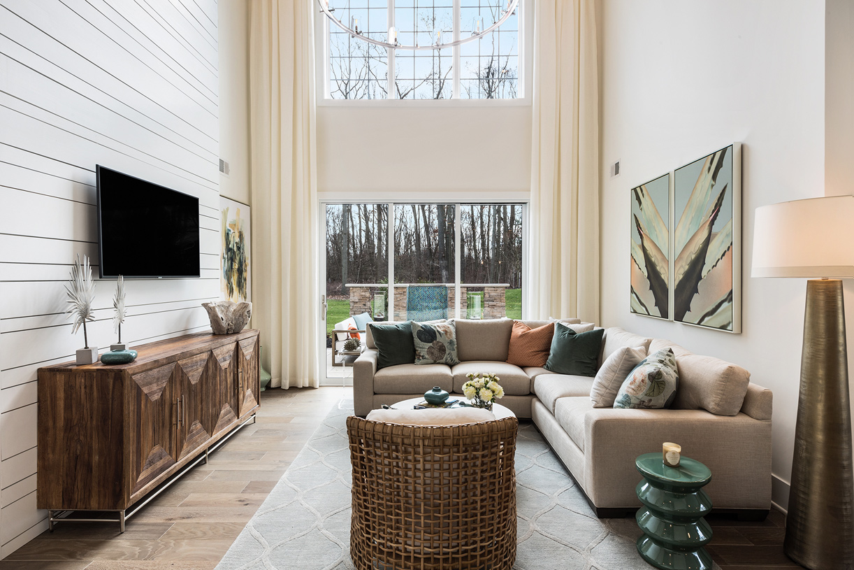 Keep your family close with this open concept living space