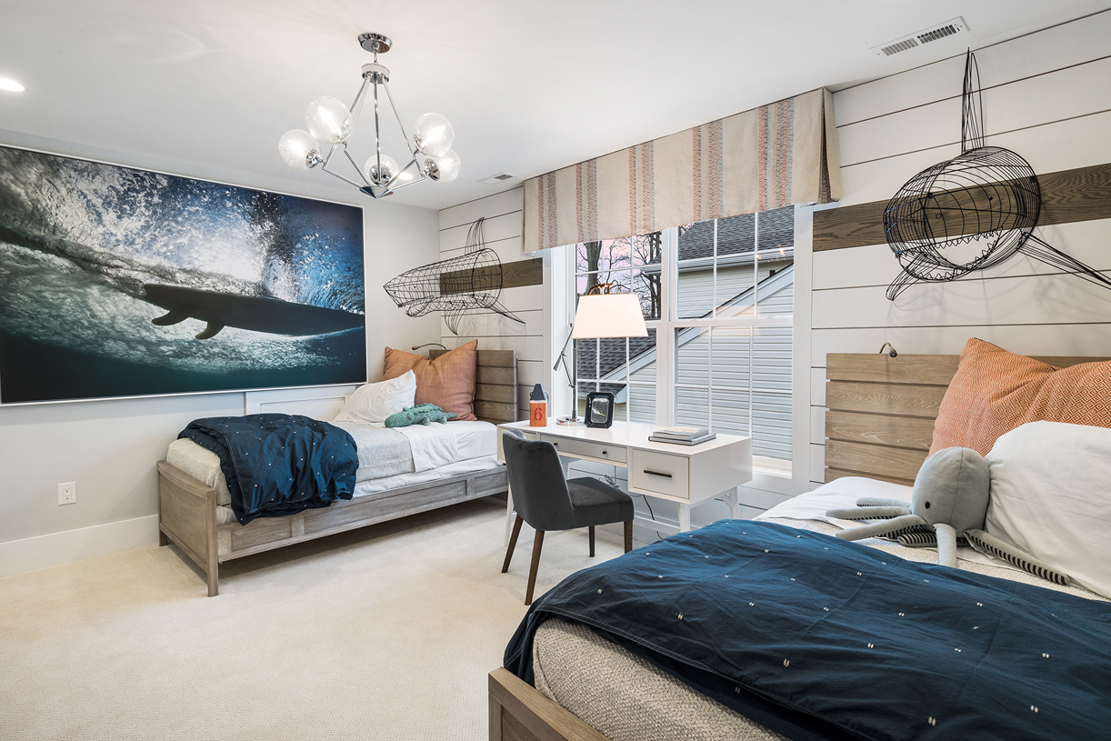 Spacious secondary bedrooms include walk-in closets and room for multiple guests
