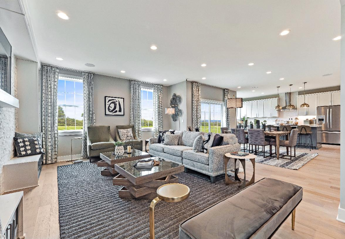 Open-concept living areas perfect for entertaining