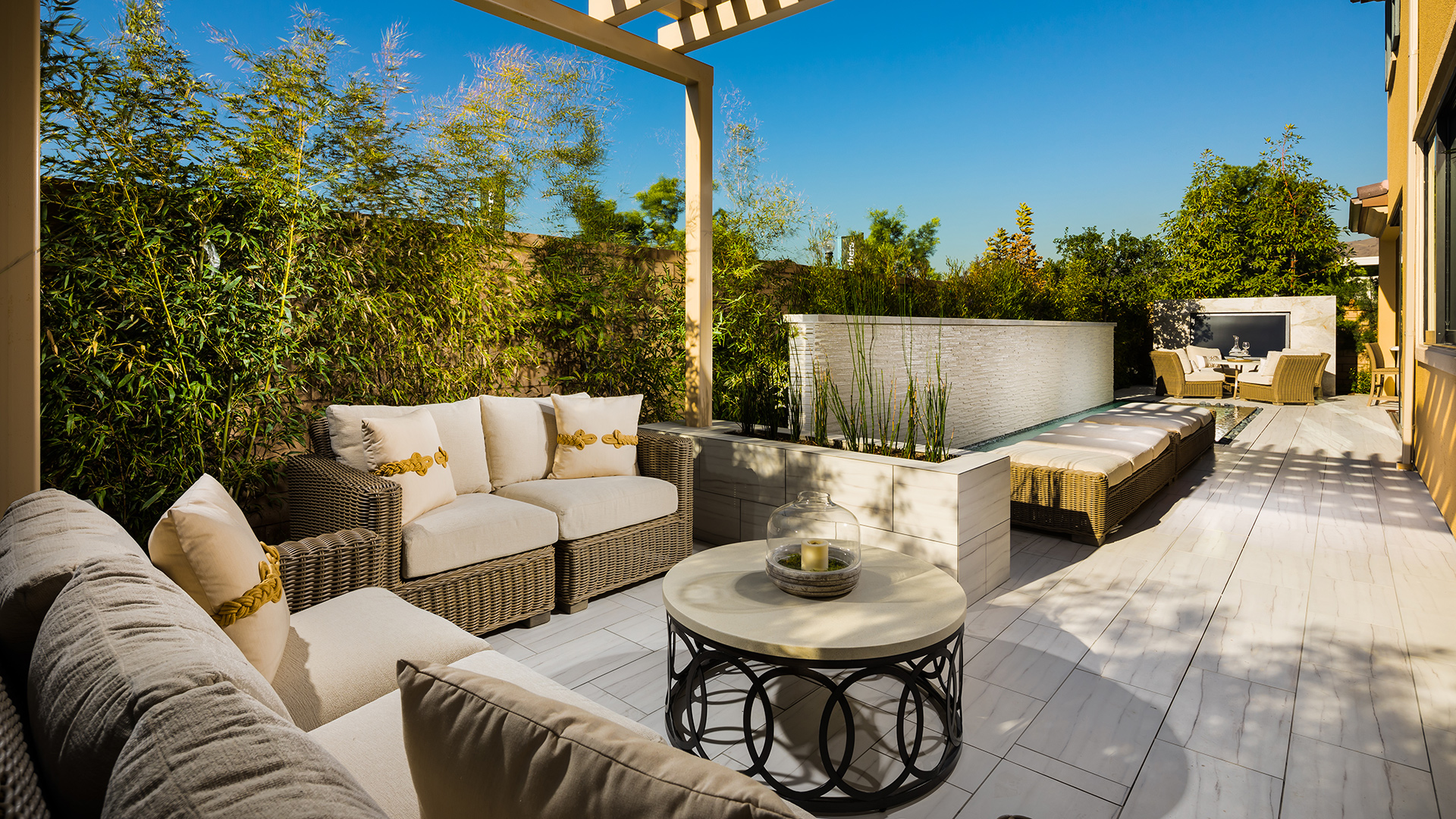 Intimate backyards are ideal for relaxing after a long day.