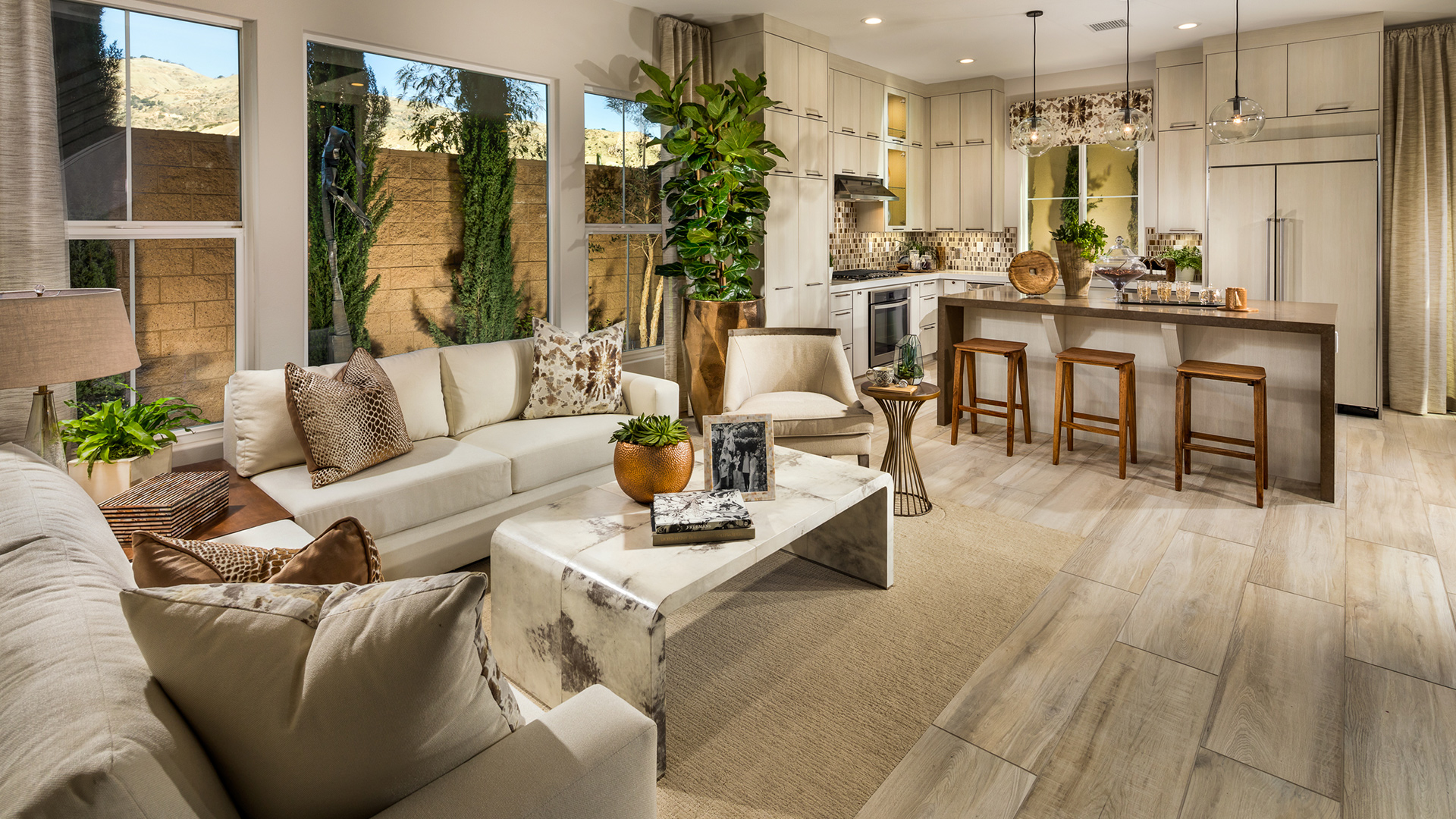Open floor plans are perfect for hosting family and friends