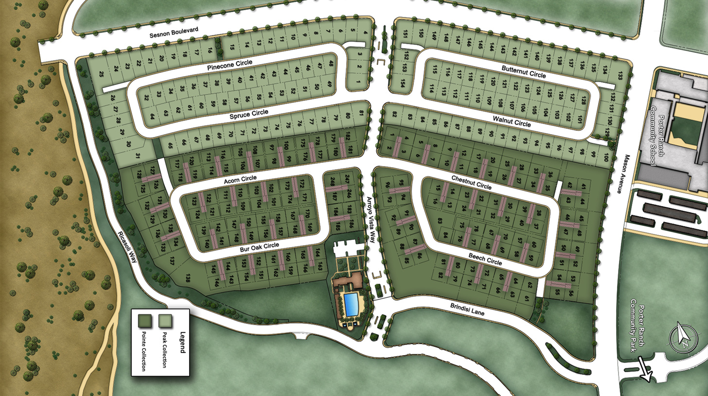 The Canyons at Porter Ranch Overall Site Plan