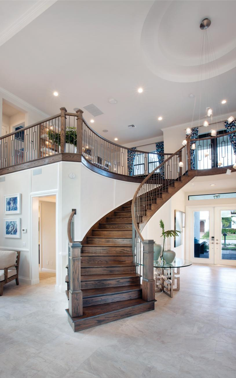 Stunning curved staircases