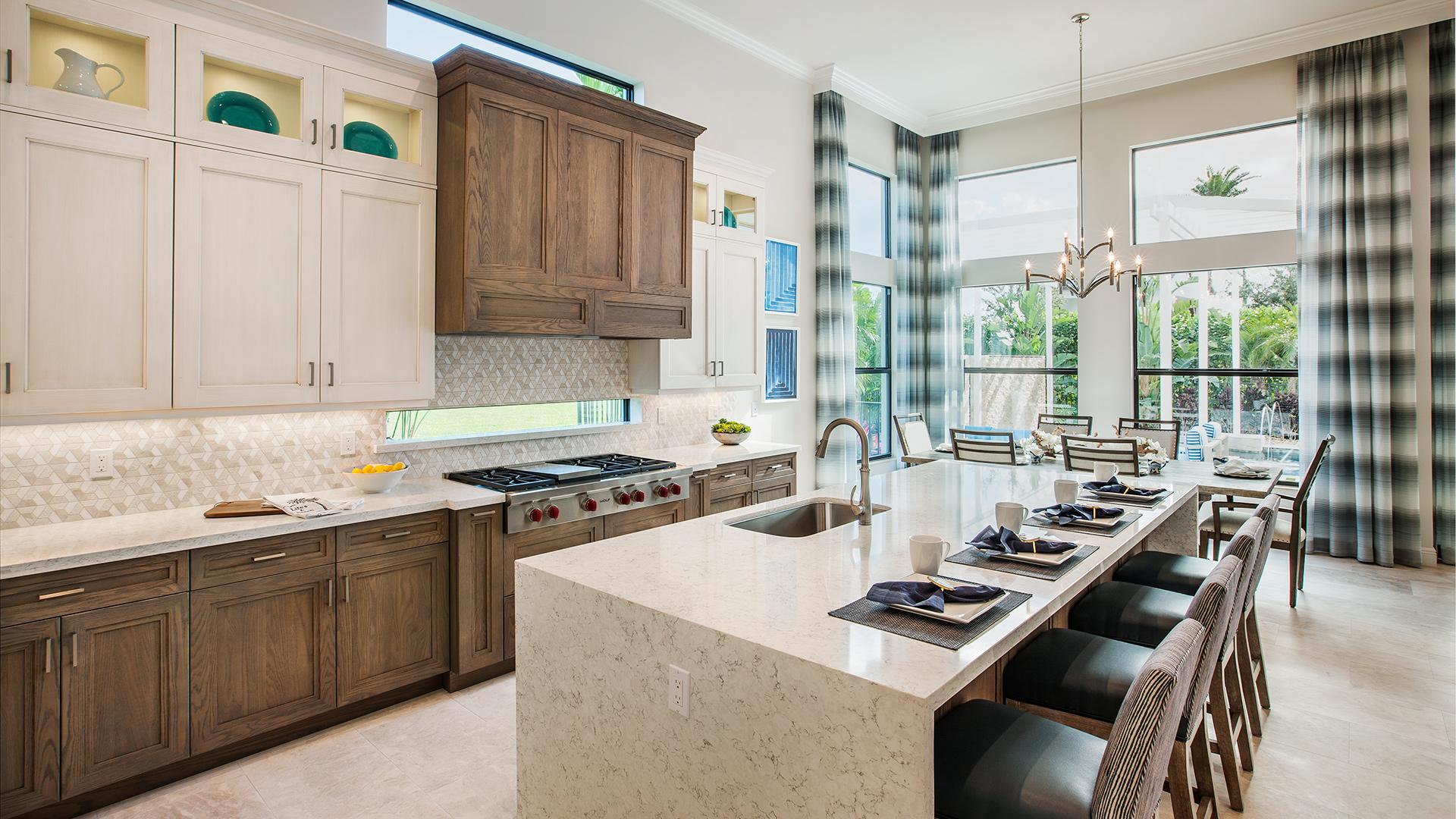 Gourmet kitchens with abundant storage
