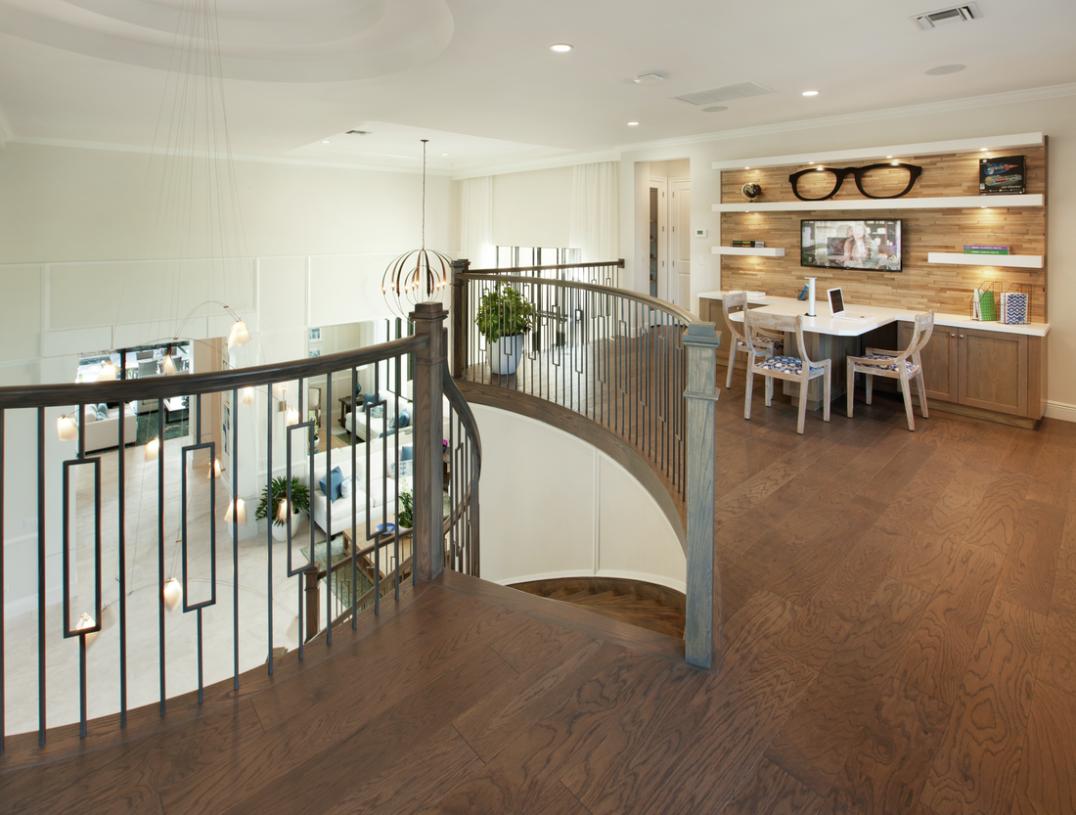 Upstairs loft provides flexible living options