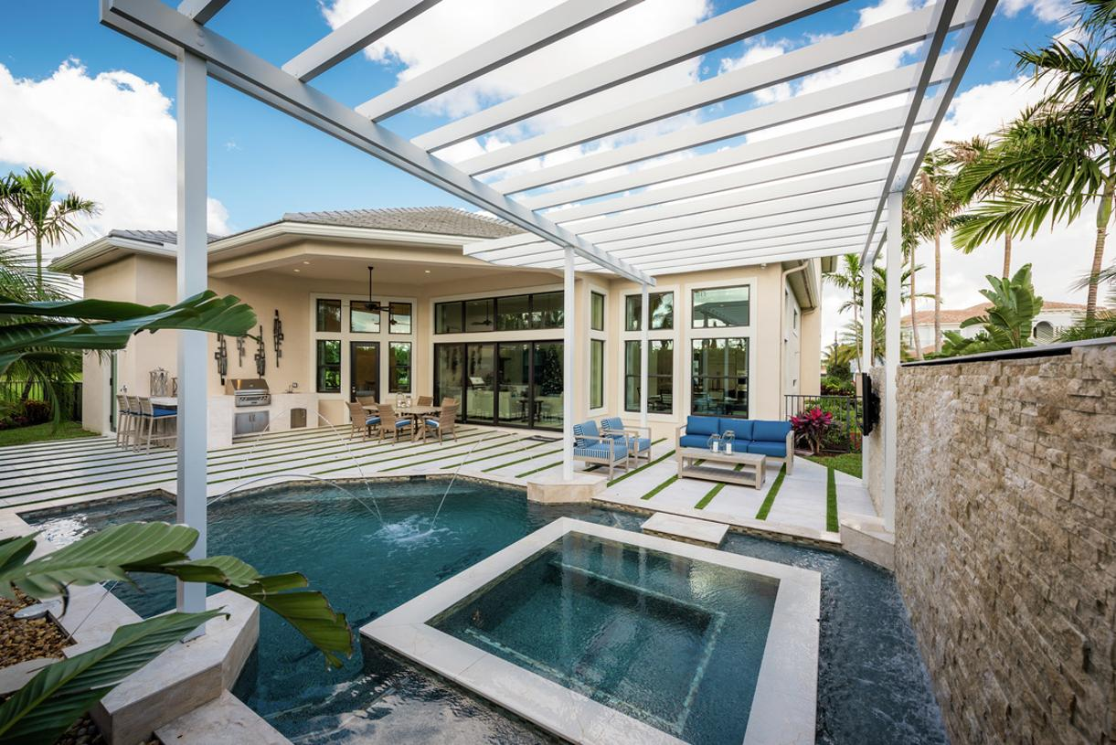 Expansive outdoor oasis perfect for the year-round Florida sunshine