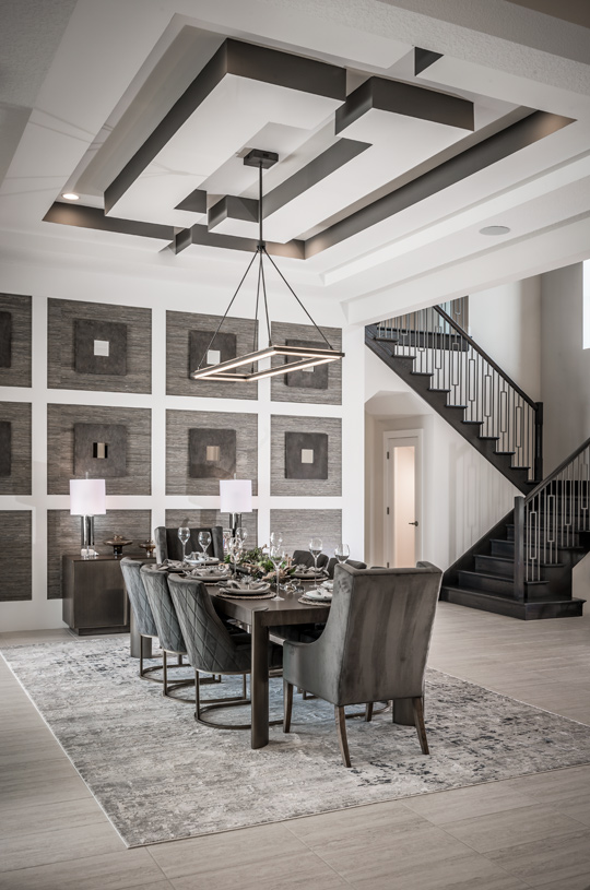 Inviting dining rooms