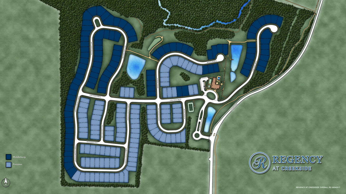 Regency at Creekside Overall Site Plan