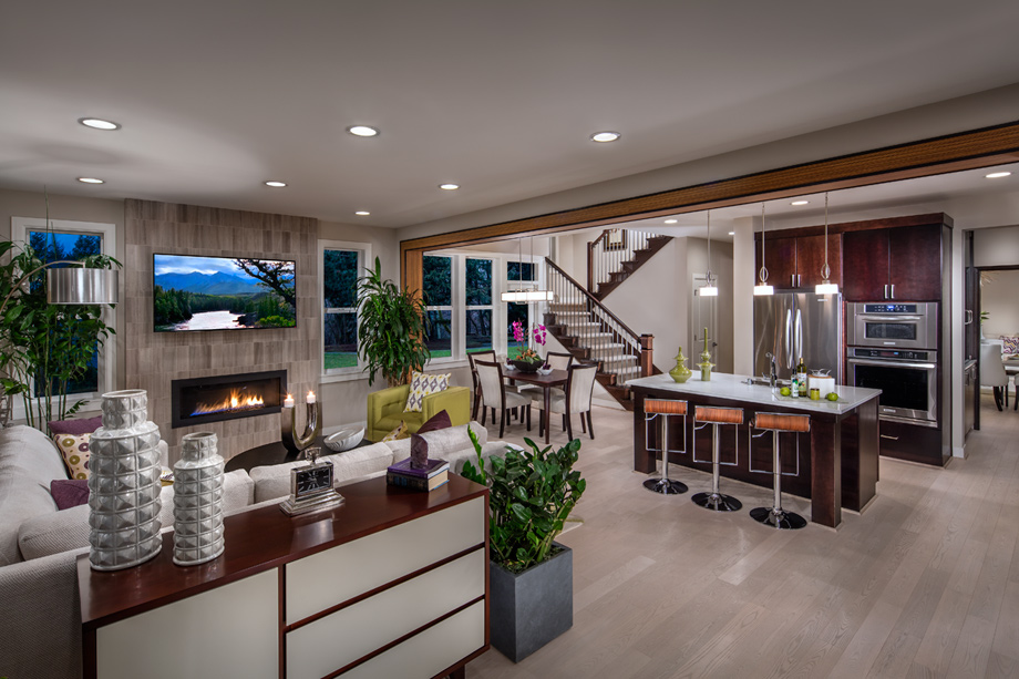 Many Home Designs Offer An Open Concept Kitchen And Family Room