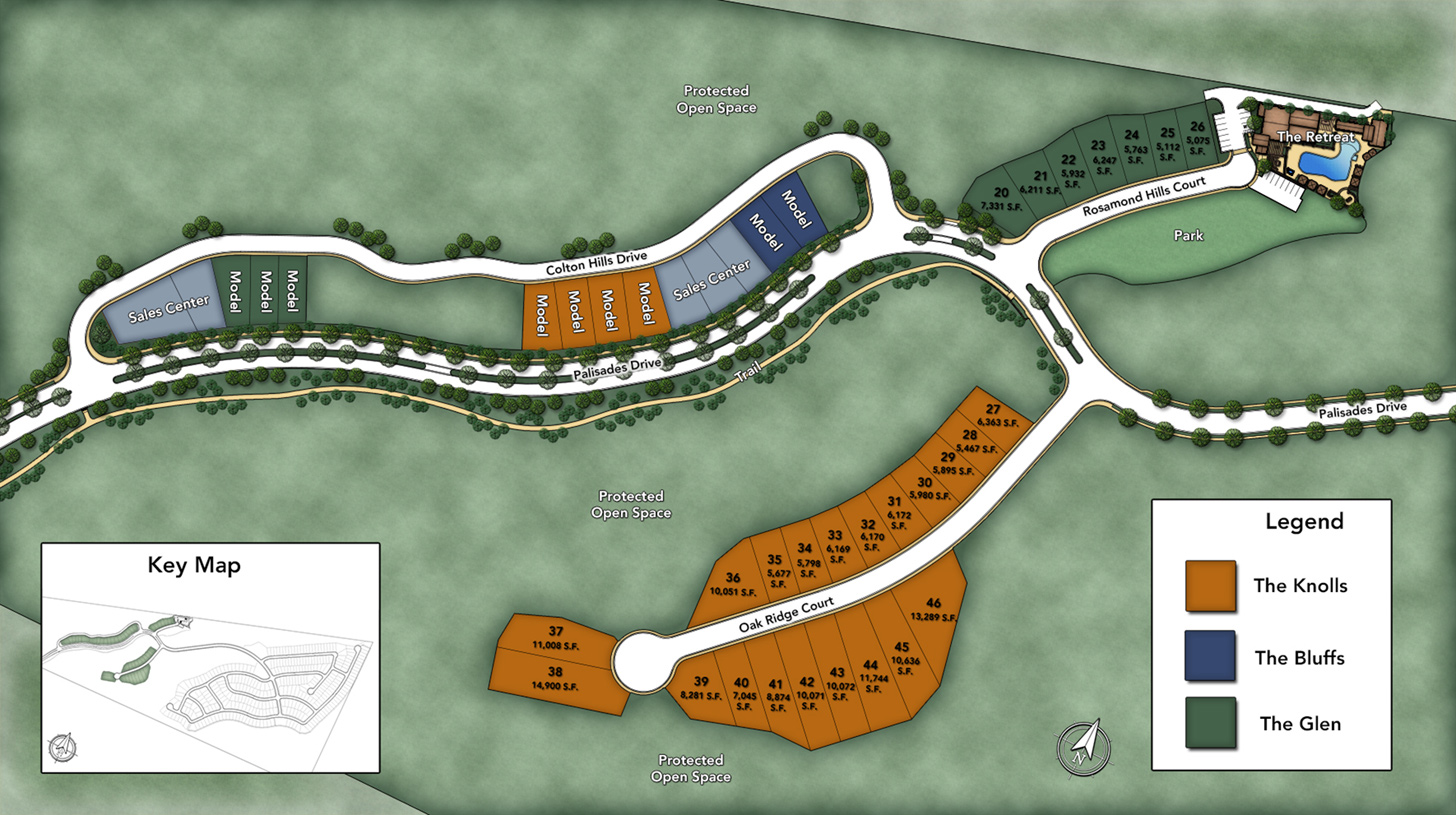 The Bluffs at Tassajara Hills Site Plan I